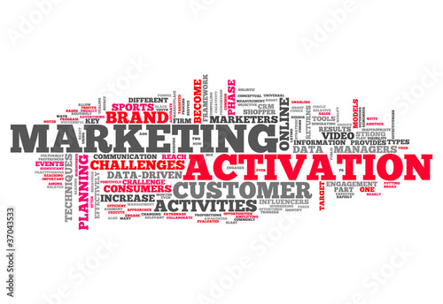 "Word Cloud ""Marketing Activation"""