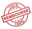 """""""100% Remboursé"""" Cachet (rouge)"""