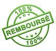 """""""100% Remboursé"""" Cachet (vert)"""