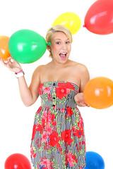 Spiel mit Luftballons