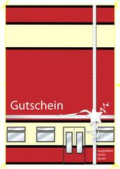 Gutschein - Karte - Bahn