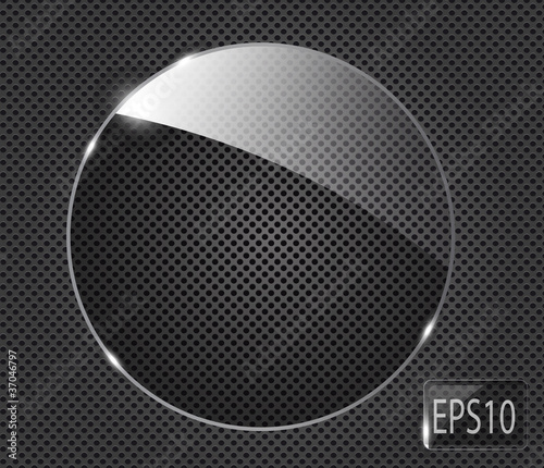 Abstract metal background with glass framework. Vector illustrat