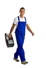 Handwerker mit Werkzeugkoffer