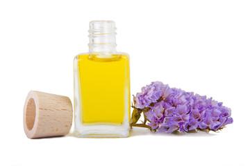 botella de perfume natural aislada en blanco