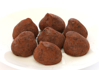 Chocolate truffle pralines sweets