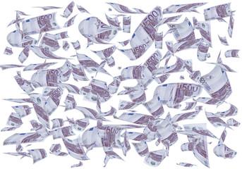 Lluvia de dinero.