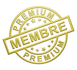 """""""Membre Premium"""" Cachet"""