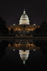 Washington DC - US Capitol at night