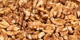 Closeup view of walnut purified poster
