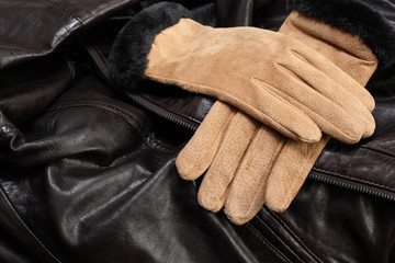 Gloves On Leather