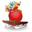 Slitta Babbo Natale con Sacco di Regali-Toys Bag on Sleigh