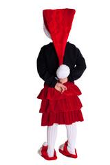 Kind mit Weihnachtskostuem