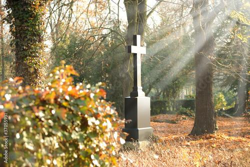 Leinwanddruck Bild Friedhof 26