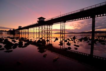 Sunrise at Llandudno pier