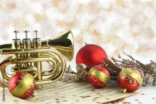 Leinwanddruck Bild Christmas music