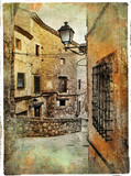 streets of medieval Spain - artistic picture