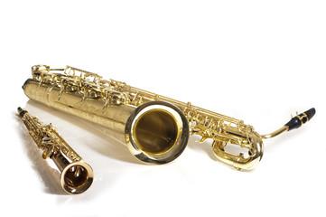 Sopran und Bariton Saxophone