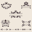 Set of vintage ornament, vector