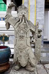 temple guardstone in wat phra kaew, bangkok, thailand