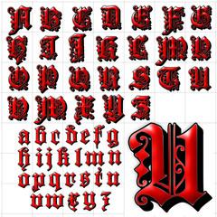 abc alphabet background dearest outline font design