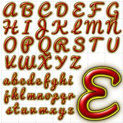 abc alphabet background pacifico font design