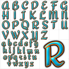 abc alphabet background redressed font design