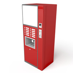 Red vending machine
