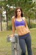 Beautiful Female Athlete at a Water Fountain (4)