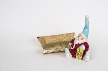 Santa with a shiny gift