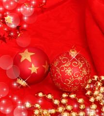 sfondo natalizio con addobbi