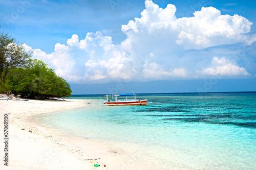 Foto op Plexiglas Indonesië Beautiful sea at Gili Meno, Indonesia.