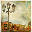 Girona - pictorial city of Spain - artwork in painting style