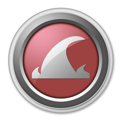 "Red 3D Style Button ""Tsunami"""