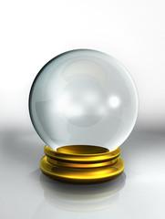 boule verre fond blanc