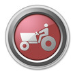 """Red 3D Style Button """"Tractor"""""""