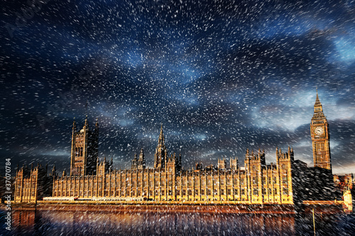 snow over westminster
