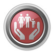 "Red 3D Style Button ""Social Services"""