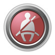 """Red 3D Style Button """"Seat Belt"""""""
