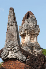 Guardians  on the entrance to temple in Thailand.