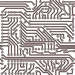 Vector seamless pattern - electronic circuit board background