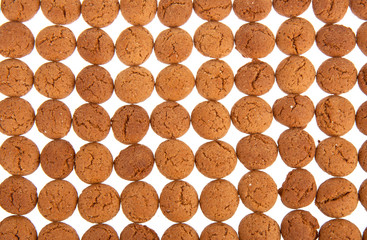 Background of ginger nuts, Dutch sweets
