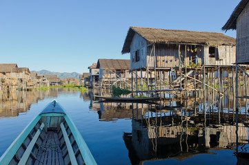 Floating village at Inle Lake, Myanmar