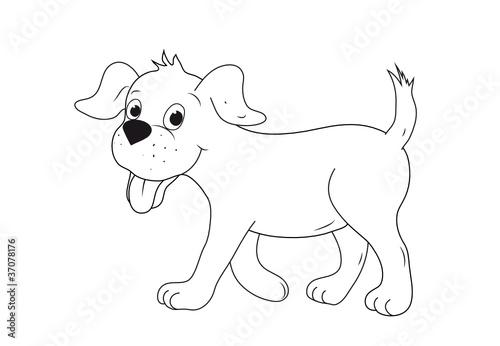 Fototapete Hund Welpe Papier Karton Grundschule Pixteria