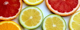 Citrus slices banner