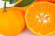 closeup Ripe orange