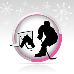 bouton hockey sur glace