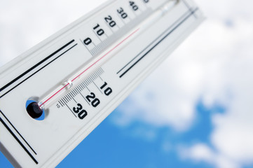 Heat. The thermometer shows high temperature