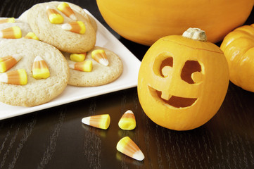 Jack-o-lantern with Halloween Cookies