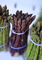 bunches of asparagus