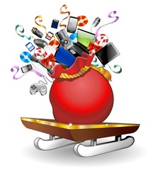 Slitta Regali Tecnologici Natale-Technological Christmas Sleigh